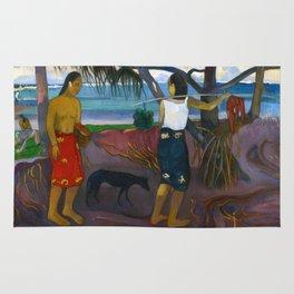 Under the Pandanus by Paul Gauguin Rug