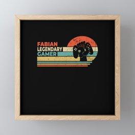 Fabian Legendary Gamer Personalized Gift Framed Mini Art Print