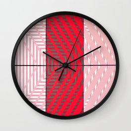 August - arrow graphic Wall Clock
