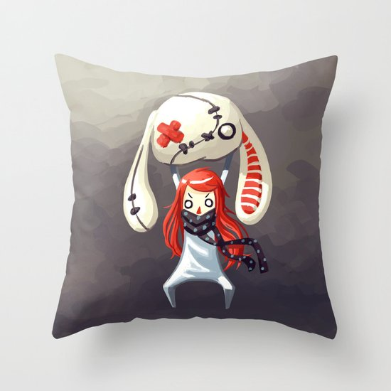 Bunny Plush Throw Pillow