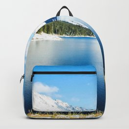 Clinton Gulch // Day Light Mountain Lake Forest Snow Peak Landscape Photography Hiking Decor Backpack