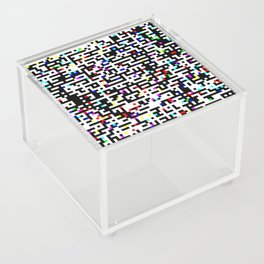 Abstract 8 Bit Pattern Acrylic Box