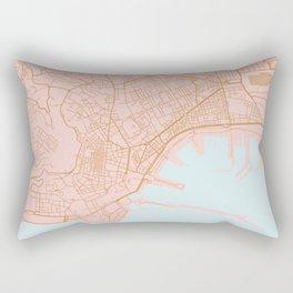 Napoli map Italy Rectangular Pillow