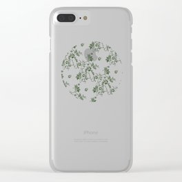 Penis Pattern GREEN Clear iPhone Case