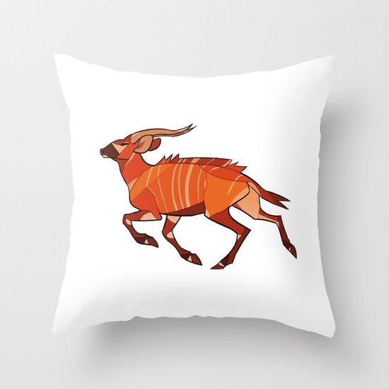 Bongo Antelope Throw Pillow