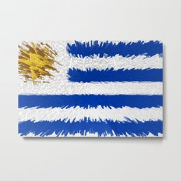 Extruded flag of Uruguay Metal Print