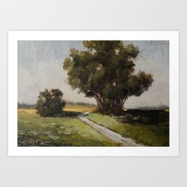 copse of trees Art Print