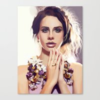 lana Canvas Prints featuring Lana by MartaDeWinter