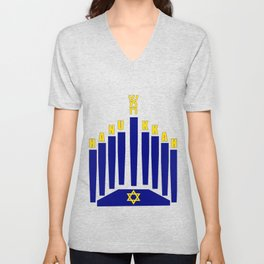 Happy Hanukkah Unisex V-Neck