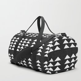 Tribal Triangles in Black and White Duffle Bag
