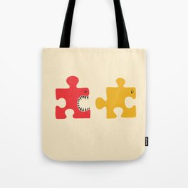 Puzzle Monster Tote Bag