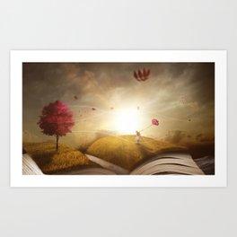 Book Landscape Art Print