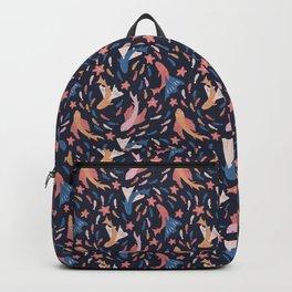 Ocean Dance on dark Backpack