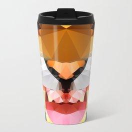 Tiger - Geo Metal Travel Mug