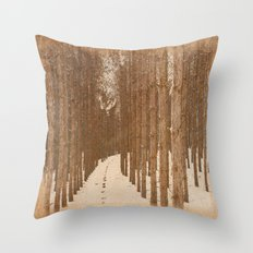 Single File  Throw Pillow