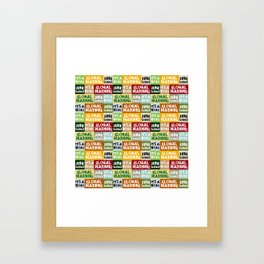 Global Warming Hoax Framed Art Print