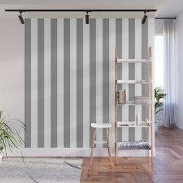 Vertical Stripes Gray & White Wall Mural