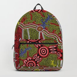 Aboriginal Art Authentic- Connections Backpack