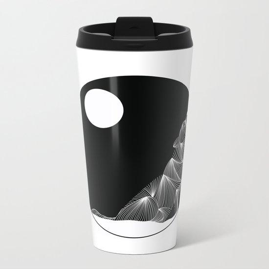 wolf Metal Travel Mug