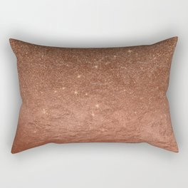Elegant modern fax rose gold glitter Rectangular Pillow