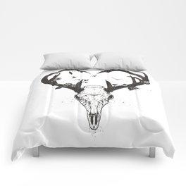 Neverending love (bw) Comforters
