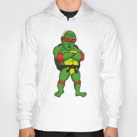 ninja turtle Hoodies featuring Teenage Putin Ninja Turtle by Chris Piascik