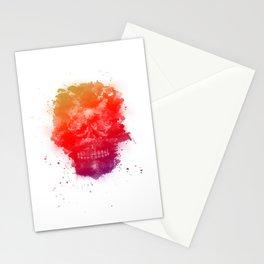 Rainbow Splatter Skull Stationery Cards