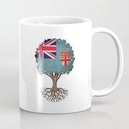 Vintage Tree of Life with Flag of Fiji Coffee Mug