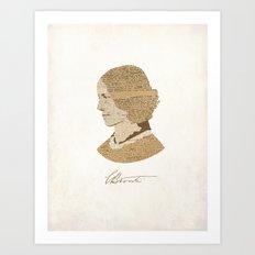 Charlotte Bronte  Art Print