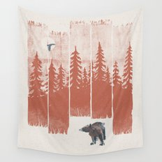 A Bear in the Wild... Wall Tapestry