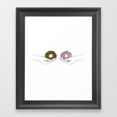 Hold my donuts Framed Art Print
