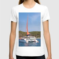 sailboat T-shirts featuring sailboat by nguyenkhacthanh