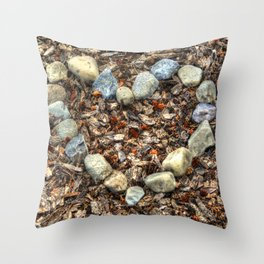 Heart of Stone - Nature-lover's Artwork Throw Pillow