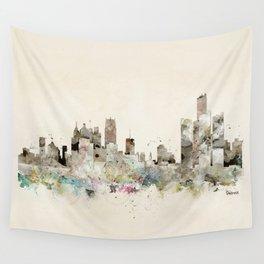 Detroit Michigan skyline Wall Tapestry