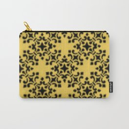 Vintage Brocade Damask Primrose Yellow Carry-All Pouch