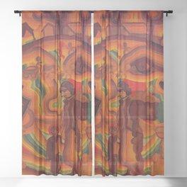 Face of War Sheer Curtain