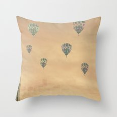 Balloons over the Empire Throw Pillow