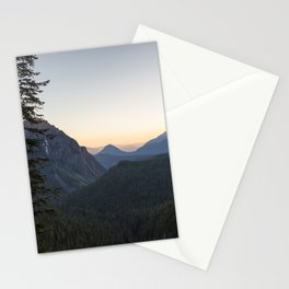 Sunset at Inspiration Point in Mount Rainier Stationery Cards