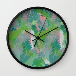 Jungle Hush Wallpaper Wall Clock