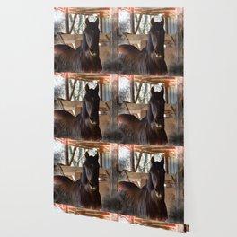 Rustic Horse Wallpaper