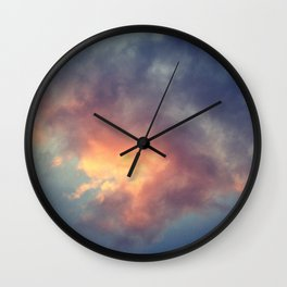 Fiery cloud Wall Clock