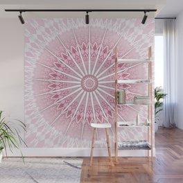 Dusky Pink Mandala Wall Mural