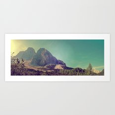 Mountain View Art Print
