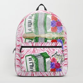 Accordion with roses Backpack