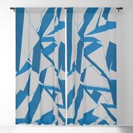 3D Broken Glass Blackout Curtain