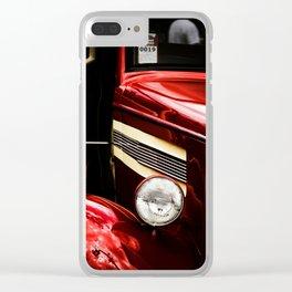 Classic Car in Red Clear iPhone Case