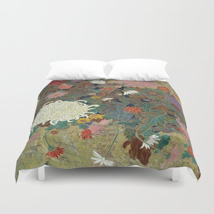 flower【Japanese painting】 Duvet Cover