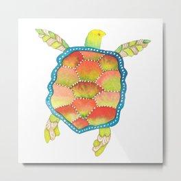 Tropical sea turtle Metal Print