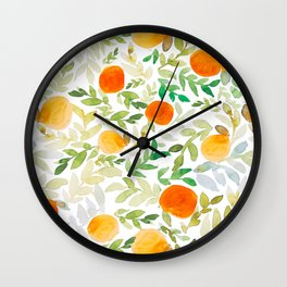 Orange You Happy Wall Clock