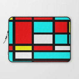 Color Block Geometric Design in Red and Turquoise II Laptop Sleeve